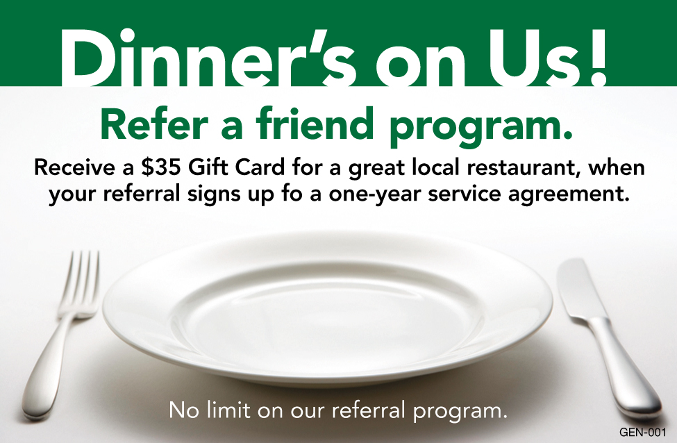 Dinners On US- Refer A Friend Program