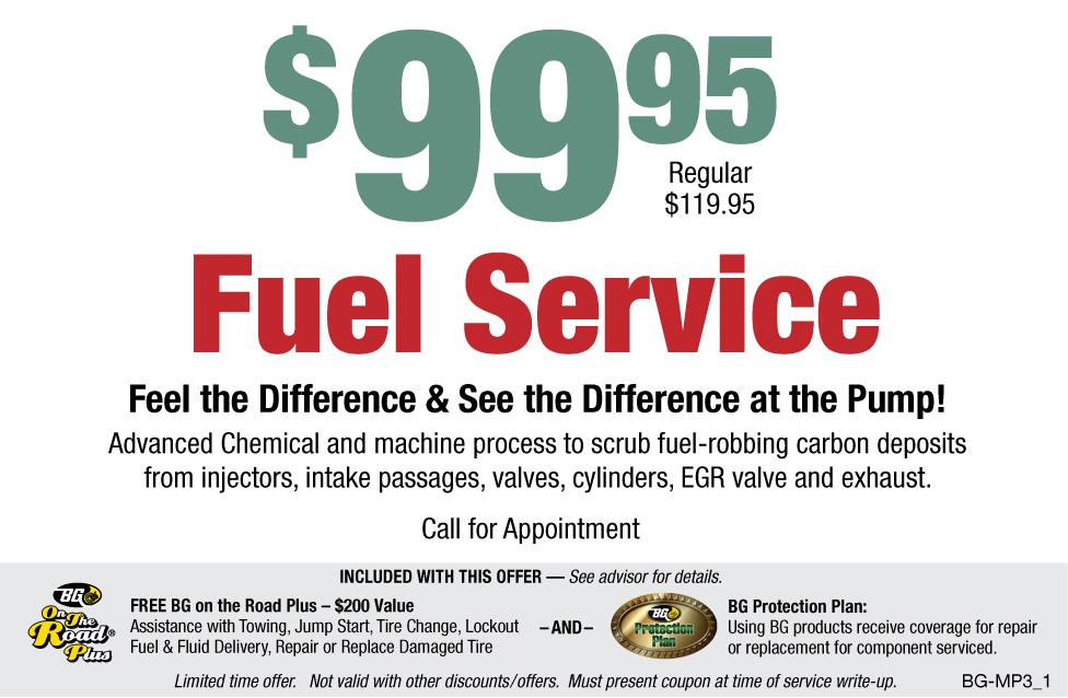 BG $99.95 Fuel Service