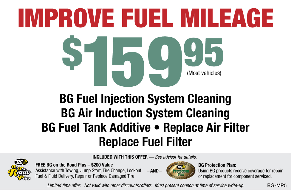 BG Fuel Injection & Air Induction Cleaning Package $159.95