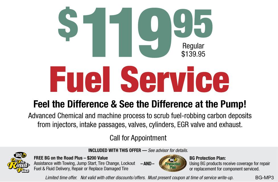 BG $119.95 Fuel Service