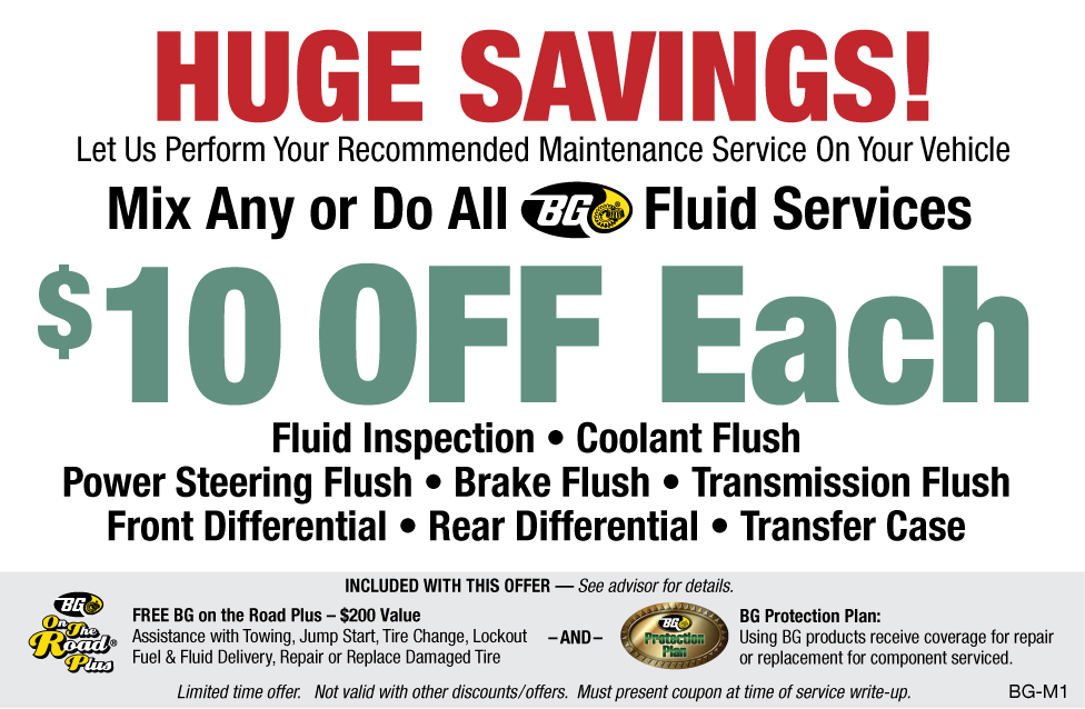 MIx Any Do All BG Fluid Services $10 OFF Each
