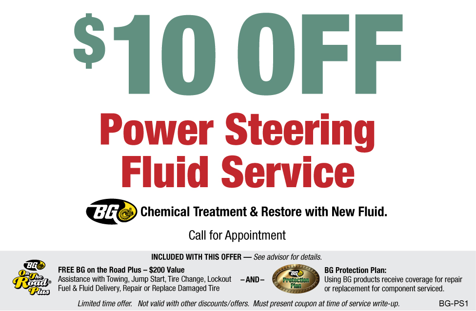 BG Power Steering Fluid $10 OFF