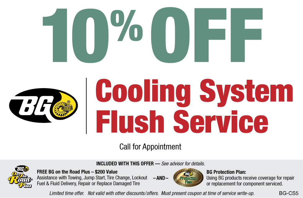 10% OFF BG Cooling System Flush