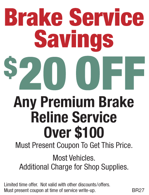 Brake Service Savings $20 Off