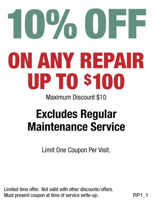 10% Off Any Repair, Max Discount $10