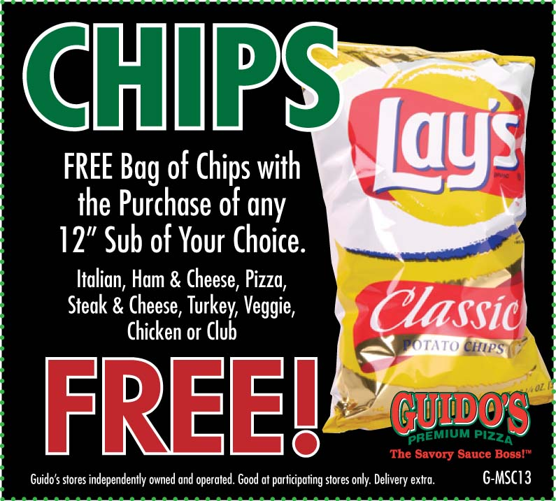 "FREE Chips W/12"" Sub"
