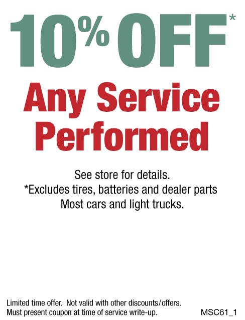 10% Off Any Service Performed