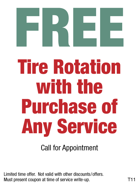 Free Tire Rotation With Purchase Of Any Service
