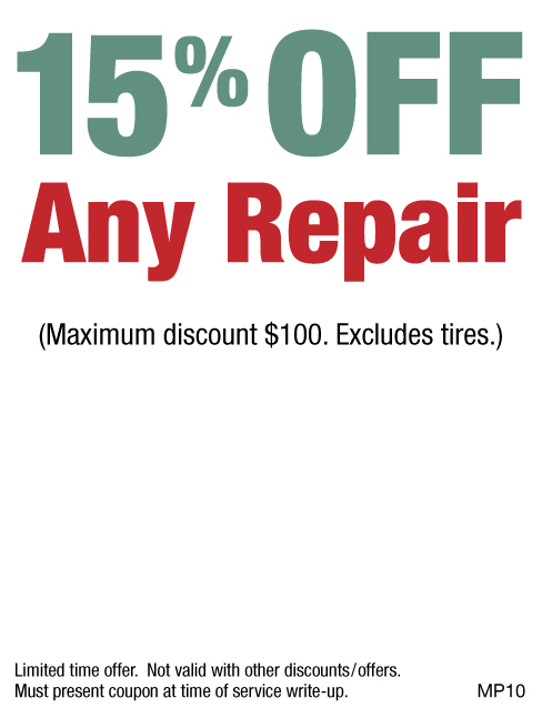 15% Off Any Repair, Max Discount $100