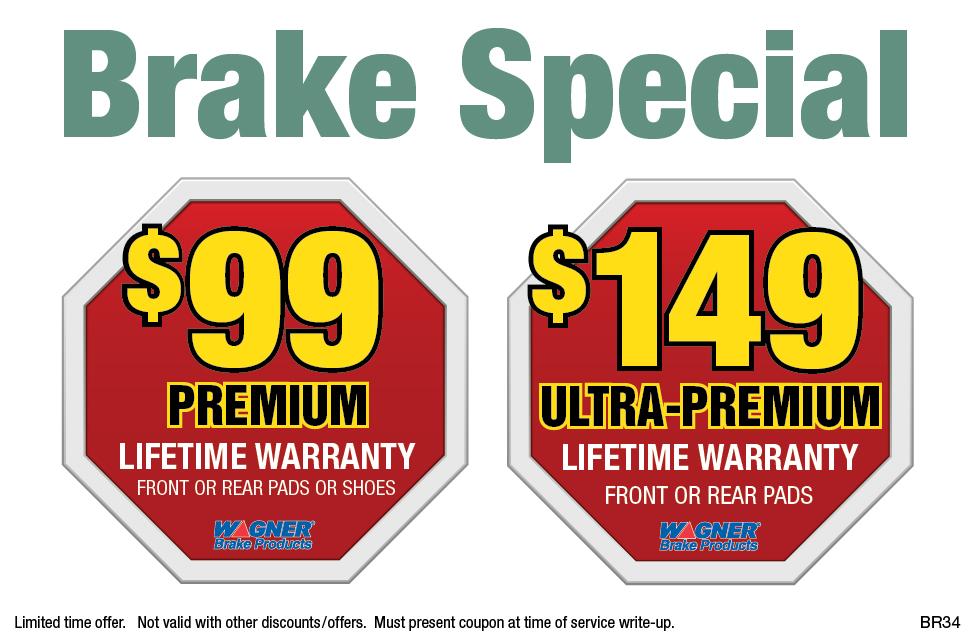 Brake Special ($99/$149)