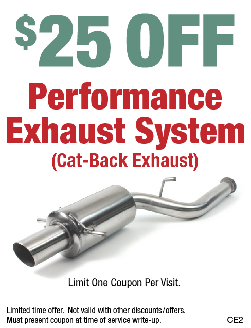 $25 Off Performance Exhaust System