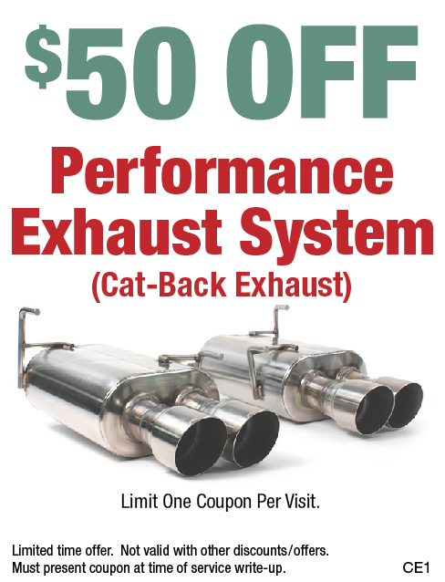$50 Off Performance Exhaust System