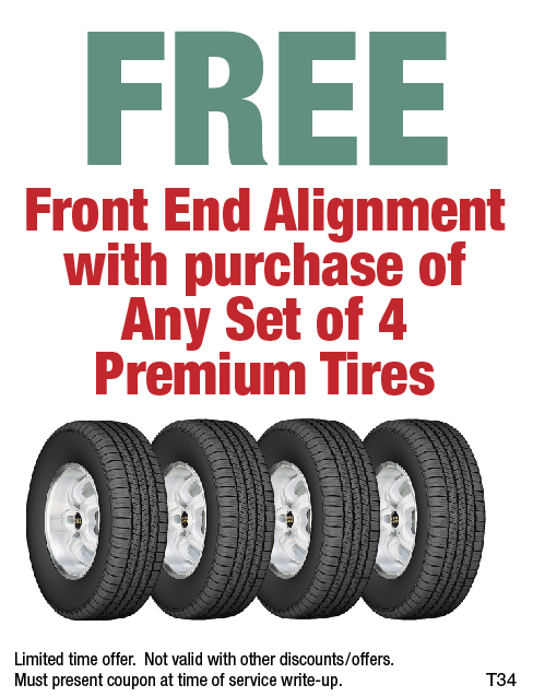 Free Front End Alignement w/ Tire Purch.
