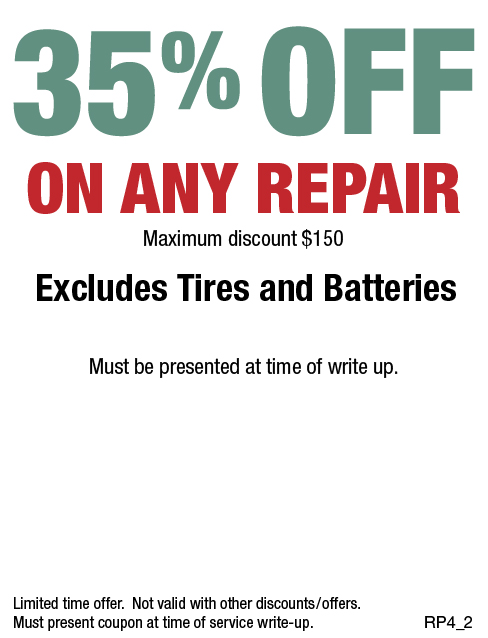 35% OFF Any Repair Up To $150