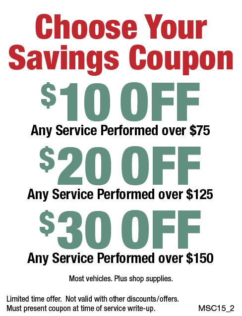 Choose Your Savings Coupon $10/$20/$30 Off