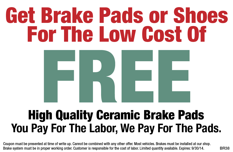 Brake Pads And Shoes FREE