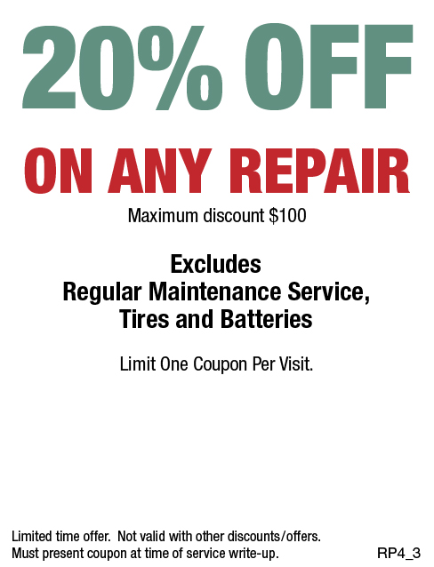 20% Off Any Repair, Max discount $100