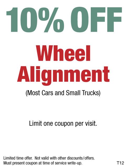 10% Off Wheel Alignment