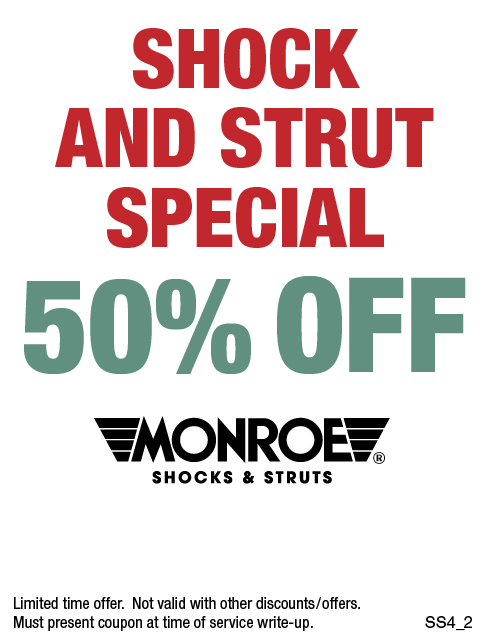 50% Off Shocks & Struts