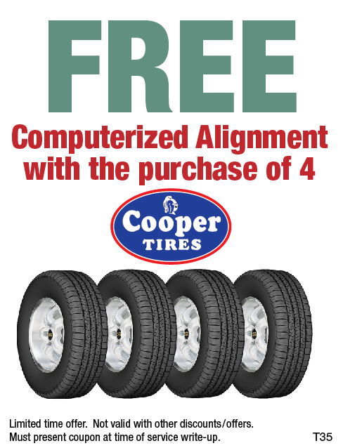 Free Alignment w/Cooper Tire Purchase