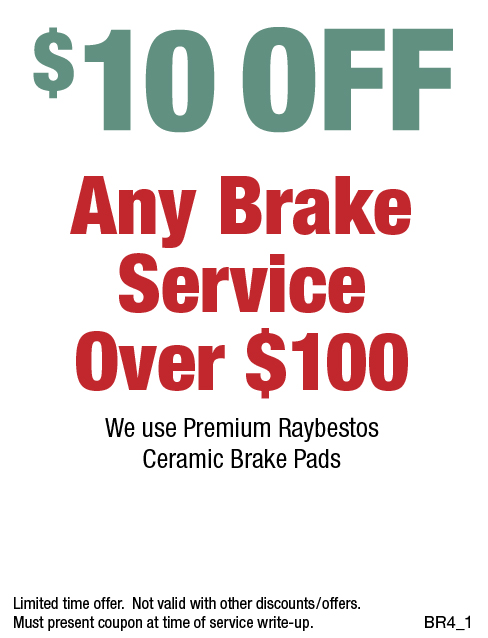 $10 Off Any Brake Service Over $100 (No Appointment Needed)