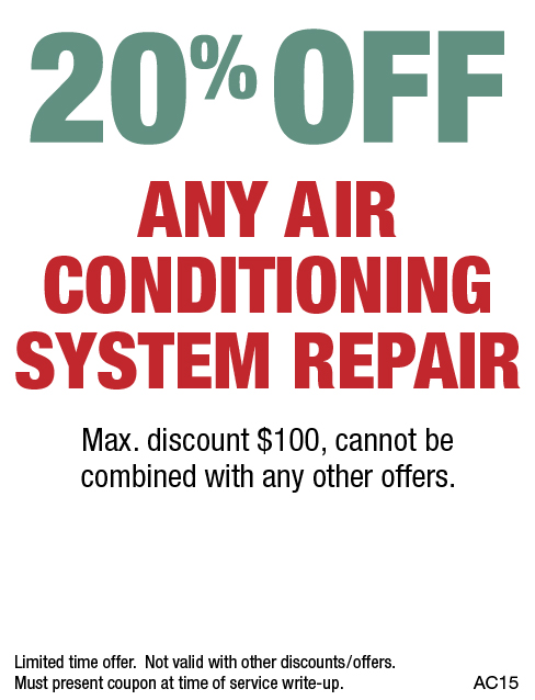20% OFF Any Air Conditioning System Repair