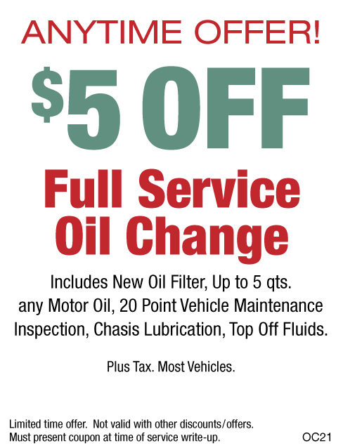 $5 OFF Full Service Oil Change