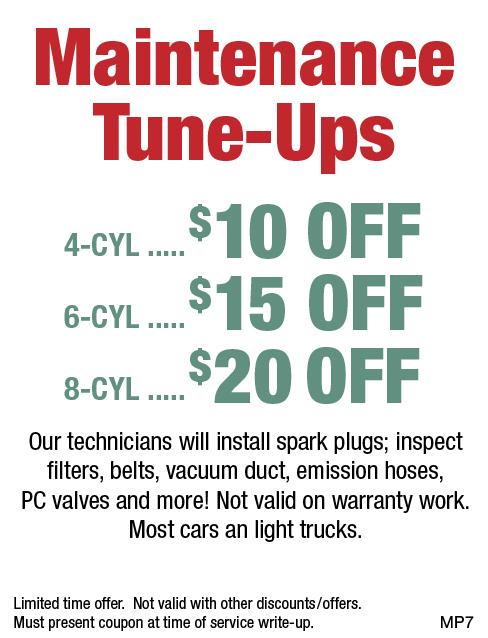 Maintenance Tune-Up 4/6/8 CYL