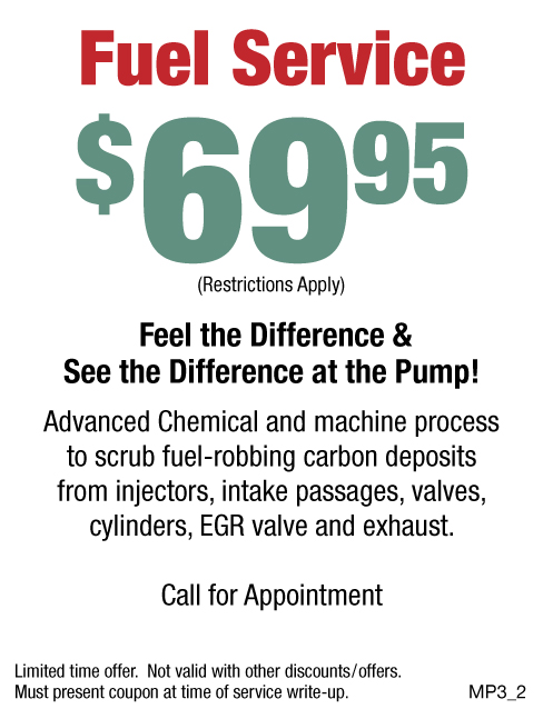 Fuel Service $69.95 W/Appt