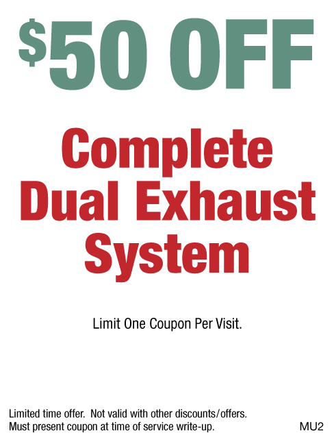 $50 OFF Complete Dual Exhaust System