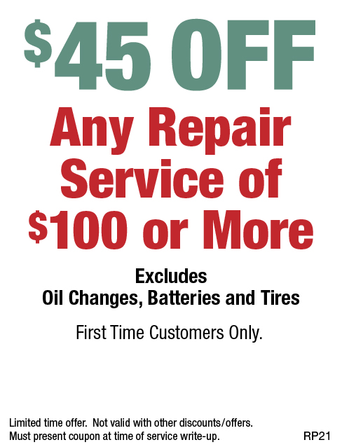 $45 OFF Any Repair or Service of $100 or More