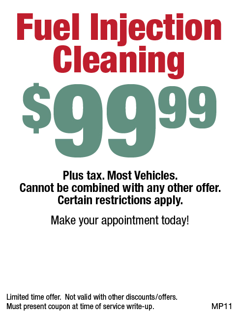 Fuel Injection Cleaning $99.99