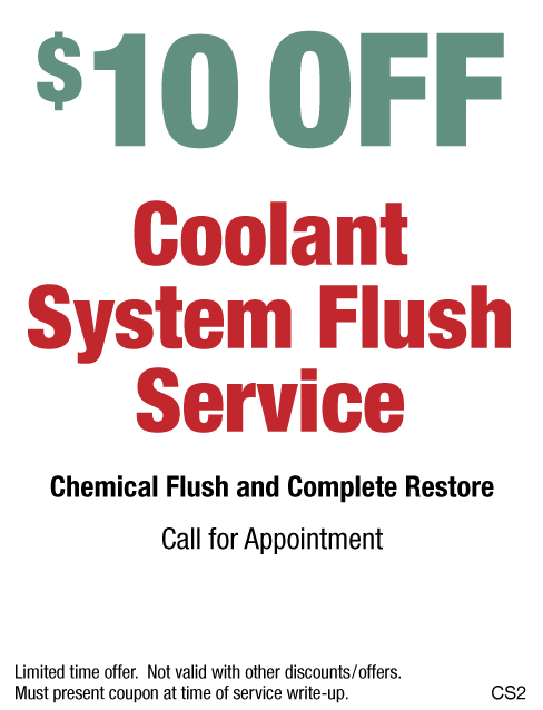 $10 OFF Coolant System Flush