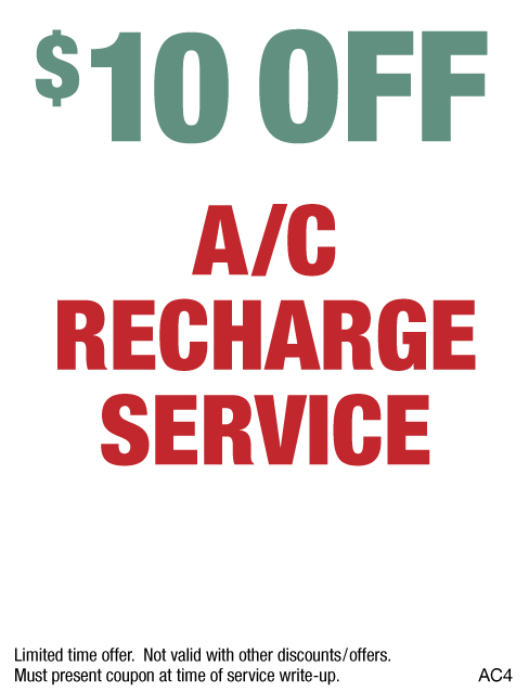 $10 OFF A/C Recharge Service