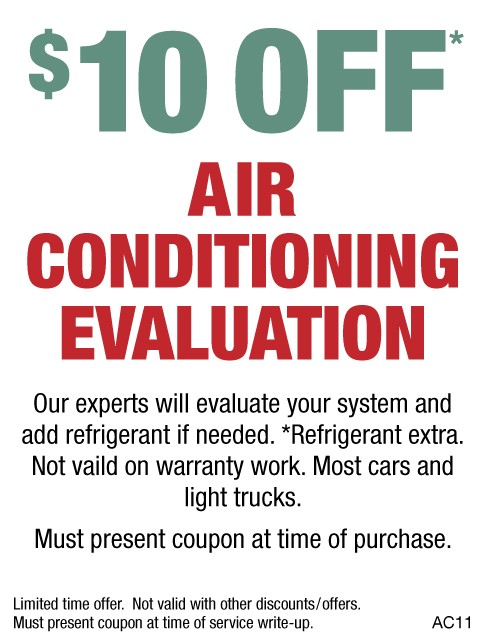 $10 OFF Air Conditioning Evaluation