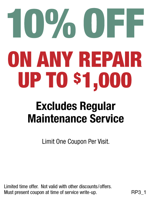 10% OFF Any Repair Up To $1000