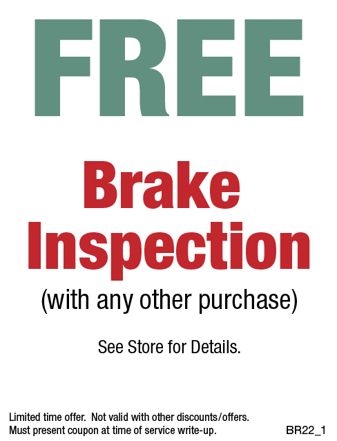 Free Brake Inspection w/Purchase
