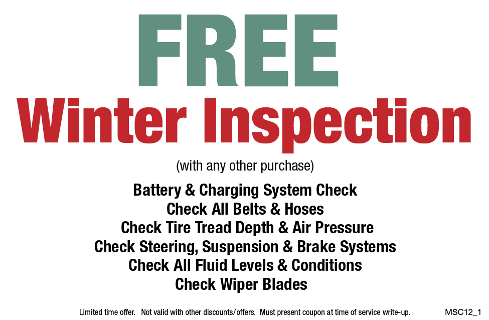 Free Winter Inspection w/Purchase