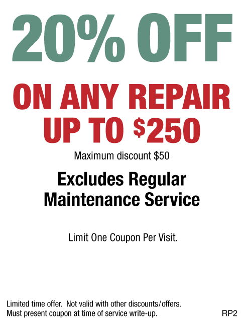20% OFF Any Repair Up To $250