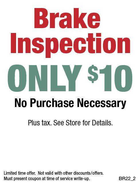 $10 Brake Inspection