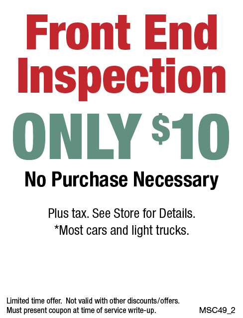 $10 Front End Inspection