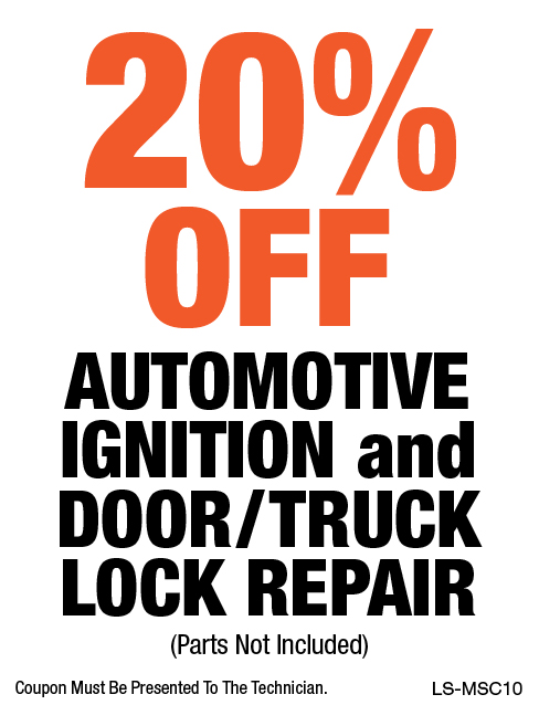 20% OFF Automotive Ignition & Door/Truck Lock Repair