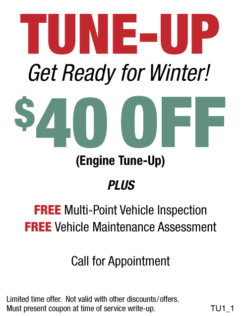 Tune-Up Get Ready For Winter $40 OFF