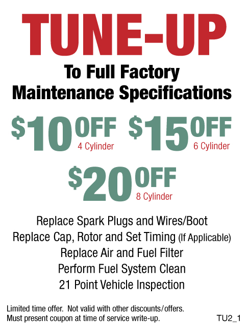 Tune-Up $10/$15/$20 OFF
