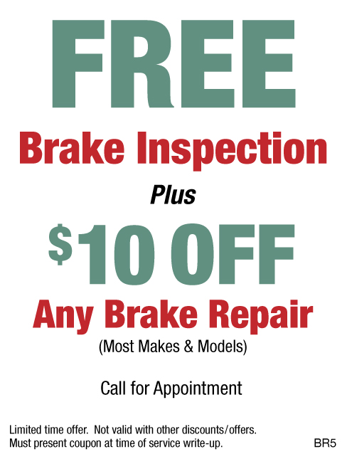 FREE Brake Inspection Plus $10 OFF Any Brake Repair