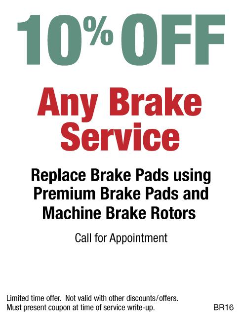 10% OFF Brake Service Premium Pads