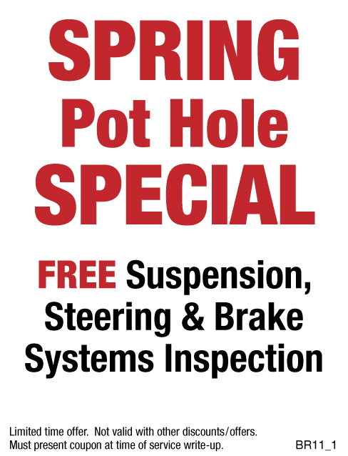Spring Pot Hole Special