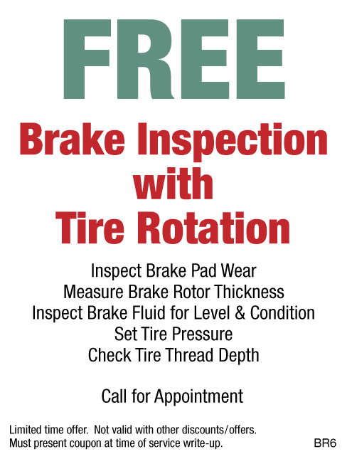 FREE Brake Inspection W/Rotation