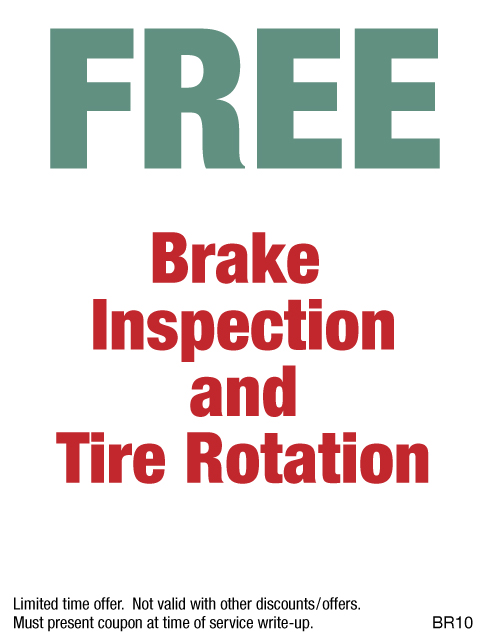 FREE Brake Inspection & Rotation
