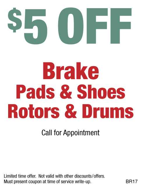 $5 OFF Brakes - Pads - Shoes - Rotors - Drums